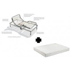 cama articulada + colchon latex